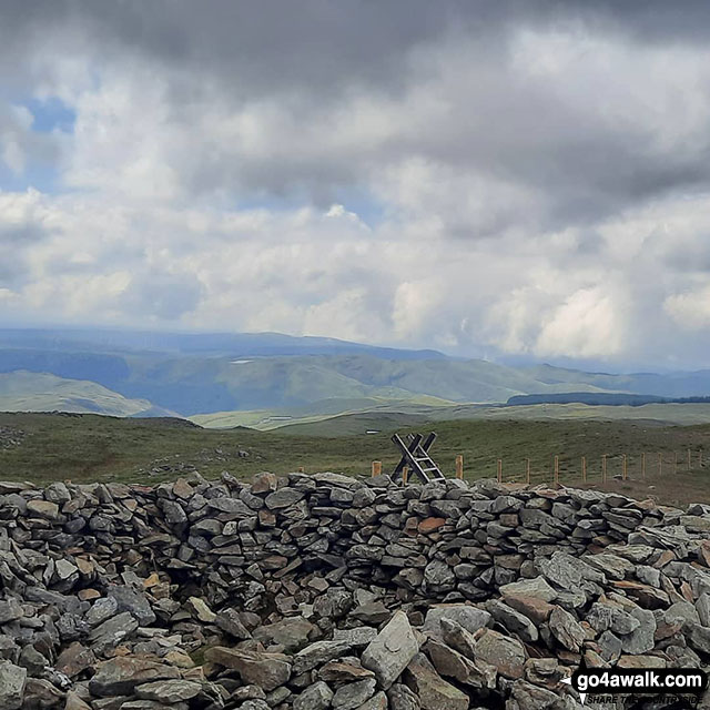 On the summit of Pen Pumlumon Fawr (Plynlimon)