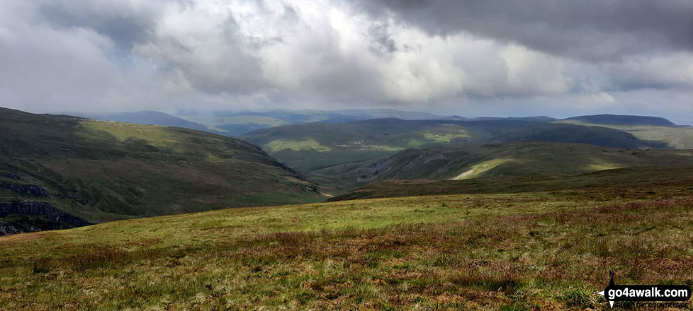 The view from Pen Pumlumon Fawr (Plynlimon)
