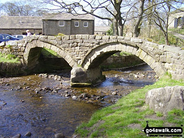 The ancient packhorse bridge at Wycoller