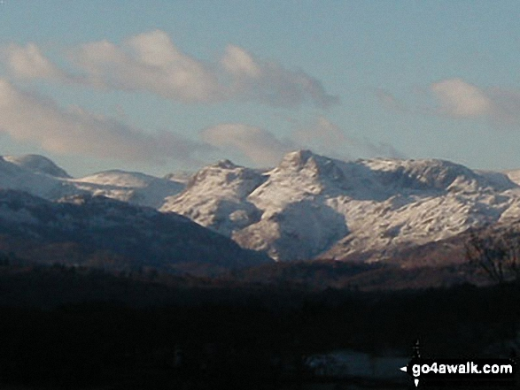 The Old Man of Coniston from Windermere