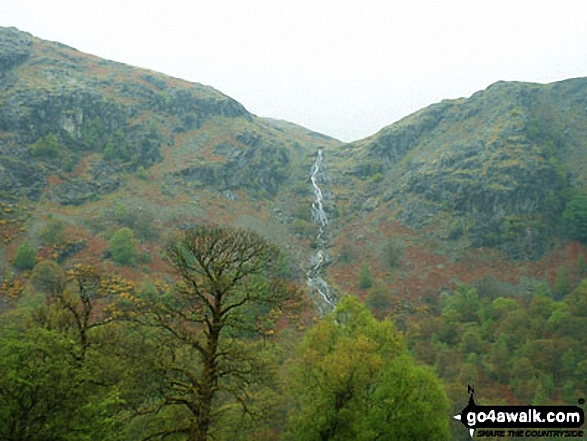 Walk c306 The Old Man of Coniston and Wetherlam from Coniston - Levers Water Waterfall