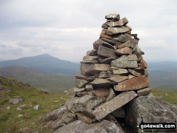 Ysgafell Wen (North Top) summit cairn