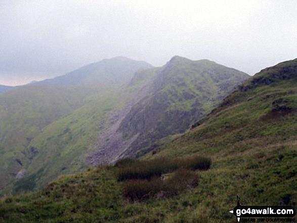 Allt-fawr (Moelwyns) and Iwerddon (Allt-fawr) from Crimea Pass (Bwlch y Gorddinan)