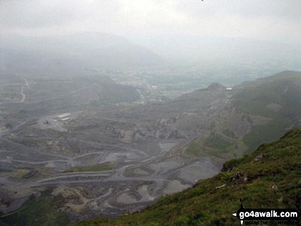 Gloddfa Ganol Slate Mine and Blaenau Ffestiniog from Allt-fawr (Moelwyns)