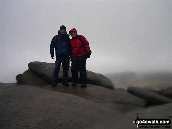 Me and my buddy Paul on Kinder Scout in Peak District Derbyshire England