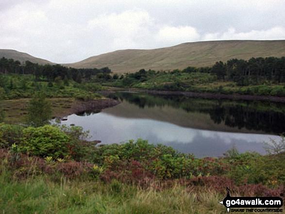 The Pen Y Fan ridge from Lower Neuadd Reservoir. Walk route map po100 Pen y Fan from Neuadd Reservoir photo