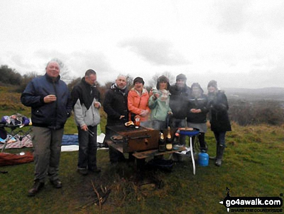 Me and family at the top of Robins Wood Hill, Robinswood Hill Country Park New Years Day 2012 - best barbeque of the year with a little champers!