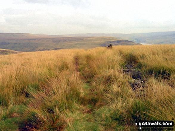 Looking back across to Bleaklow Hill from Millstone Rocks (Lad's Leap)