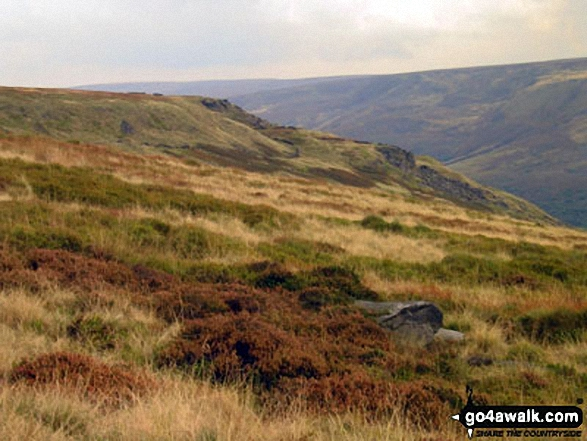 Looking down Coombs Clough to Bramah Edge from Lad's Leap