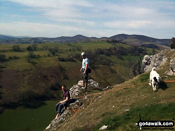 Lovely days climbing at Trevor Rocks in Llangollen with the Clywdian range in the background