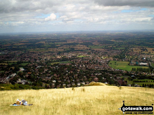 The view from the top of Malvern (Worcestershire Beacon)
