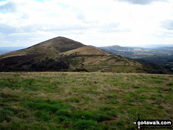 Malvern (Worcestershire Beacon) and Sugarloaf Hill (Malverns) from North Hill (Malverns)