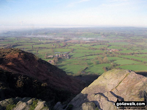 The Cheshire Plain from The Cloud (Bosley Cloud)