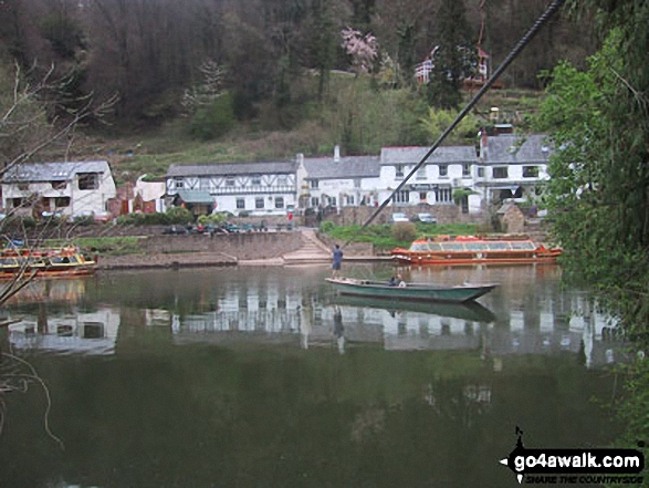 The Ancient Hand Ferry across the The River Wye from Symonds Yat West