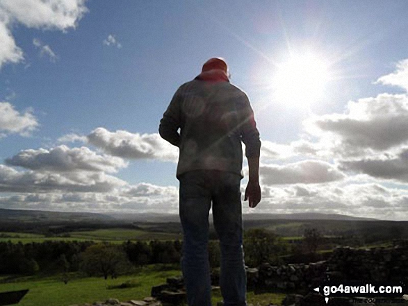 This is my fiance on Hadrian's Wall near Thirlwall Castle