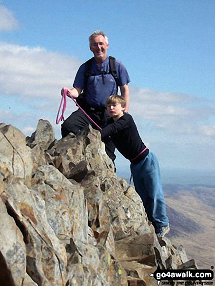 Mark and Joe tackling Crib Goch
