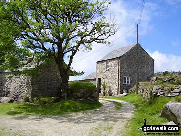 West Candra (or Lower Candra). Walk route map co168 Brown Willy and Bodmin Moor from St Breward photo