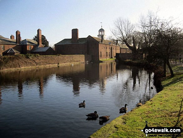 Dunham Massey. Walk route map ch102 Dunham Massey and The Bridgewater Canal from Lymm photo