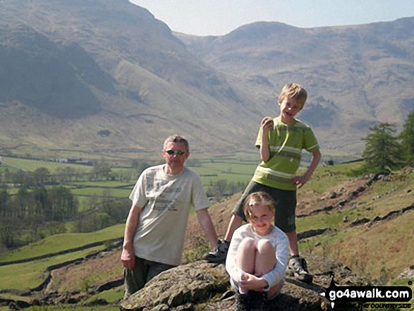 My husband and children at Stickle Tarn, Great Langdale