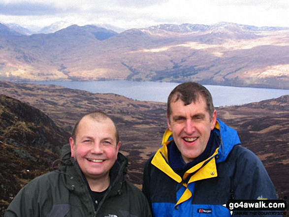 Me and my mate Graham on Ben Venue