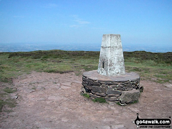 Hay Bluff summit trig point