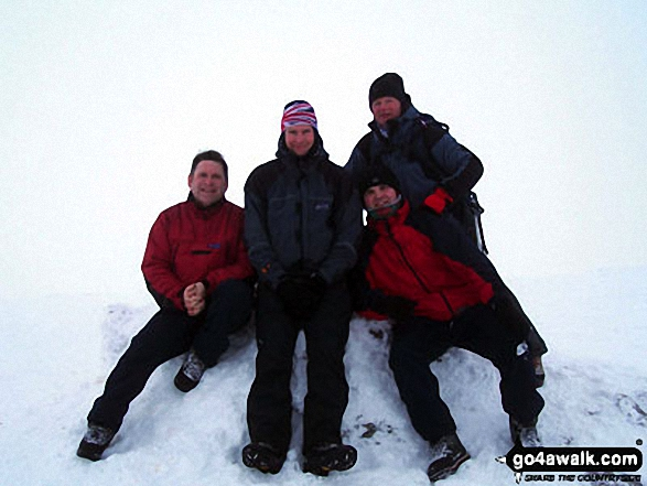 Me (right) and my mate Kevin and Cally on Foel Grach