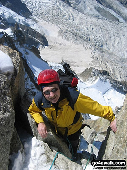 Me on Cosmiques Arrete walk Chamonix  France walks