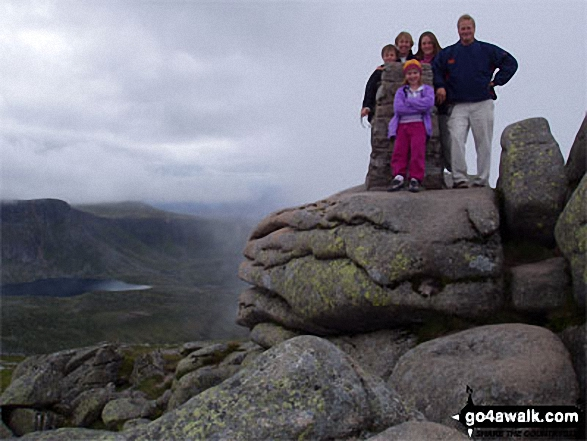 My Family on Lochnagar walk Cairngorms Aberdeenshire Scotland walks