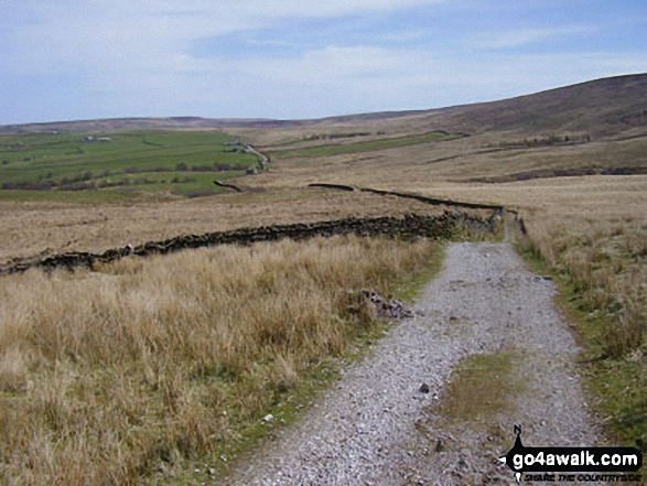 The Bronte Way & Pendle Way crossing Will Moor