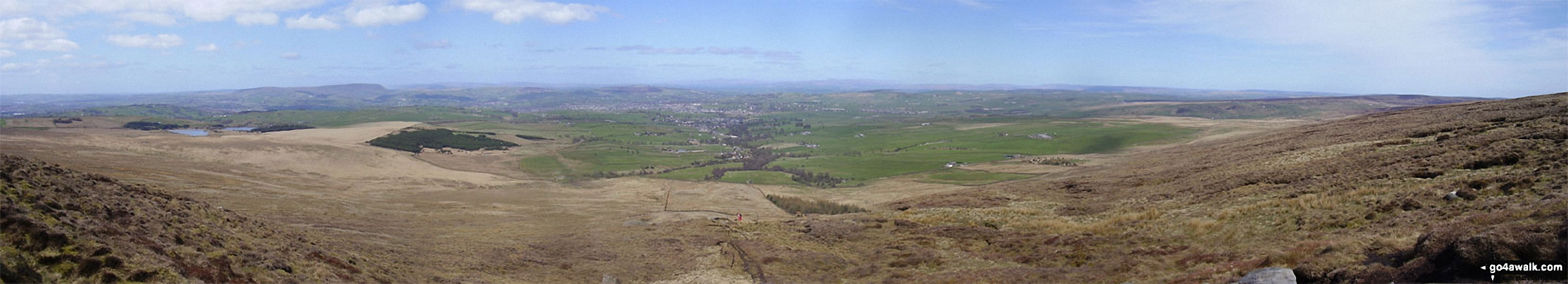The view looking North from the summit of Lad Law (Boulsworth Hill)