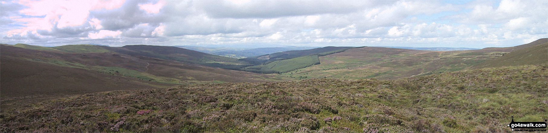 Pen Bwlch Llandrillo Top, Nant Croes-y-wernen, Pen Creigau'r, and Moel Fferna from the summit of Cerrig Coediog