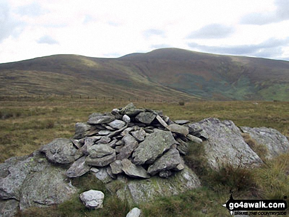 Pen Bwlch Llandrillo Top with Cadair Bronwen in the background. Walk route map dn127 Pen Bwlch Llandrillo Top and Cadair Bronwen from Llandrillo photo