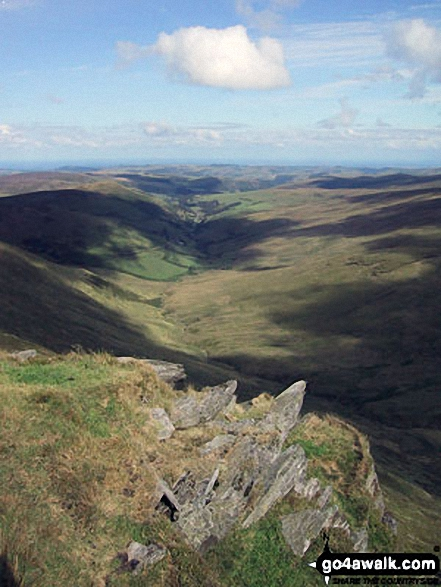 Pantre and Nant Cwm-llawerrog from Cadair Bronwen