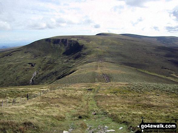 Cadair Berwyn and Moel Sych from Bwlch Maen Gwynedd