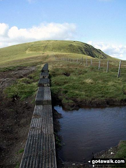 Cadair Bronwen from Bwlch Maen Gwynedd. Walk route map dn127 Pen Bwlch Llandrillo Top and Cadair Bronwen from Llandrillo photo