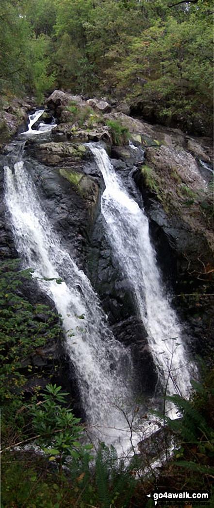 Rhaeadr Du (Black Waterfall), Cwm Camlan, Ganllwyd