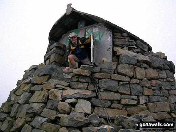 Me on Ben Nevis walk Ben Nevis, The Aonachs and the Grey Corries Highland Scotland walks