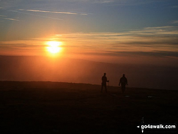 Sunset from the summit of Ingleborough