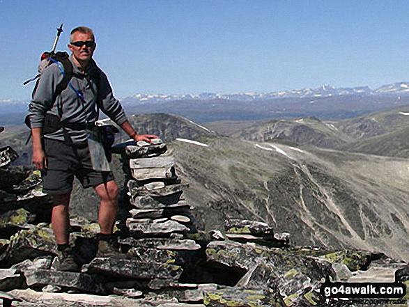 Gary on Veslesmeden, 2015m in The Rondane  Norway