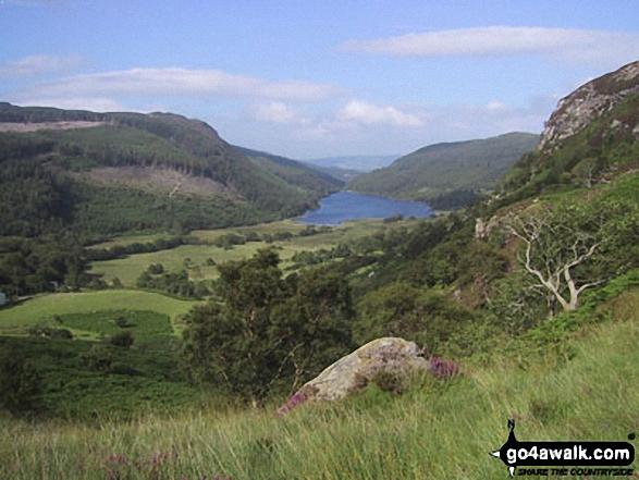 Walk cw191 Creigiau Gleision from Llyn Crafnant - Llyn Crafnant Reservoir