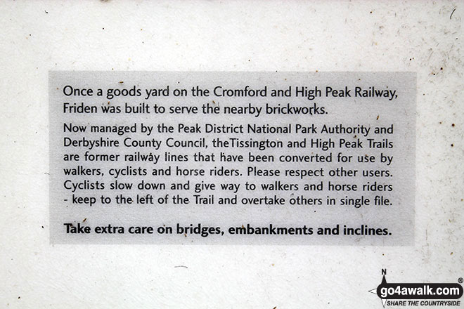 Sign at Friden Station on the High Peak Trail