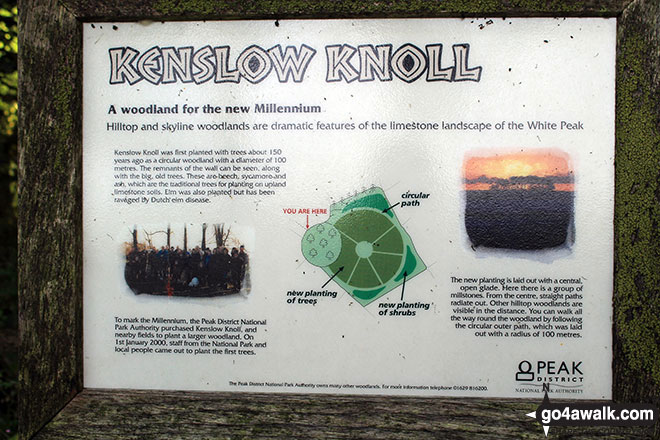 Information Board on Kenslow Knoll