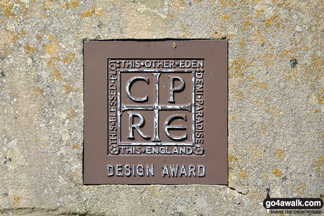 Design award plaque on the Kenslow Knoll summit sculpture