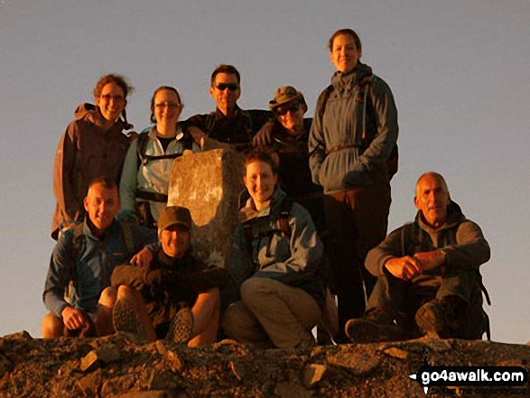 My self and 8 friends on the summit of Ben Nevis at 4:15 am on the 5th June 2011.