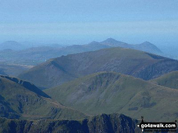 The view from Y Garn (Glyders) summit