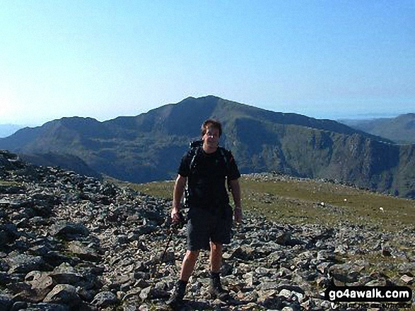 Me on Y Garn (Glyders) summit