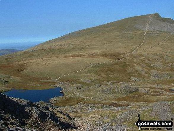 Llyn Y Cwm and Y Garn from Glyder Fawr