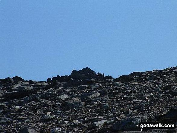 Climbing on Glyder Fawr