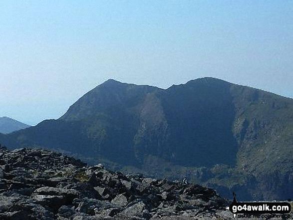 Snowdon (Yr Wyddfa) and Garnedd Ugain (Crib y Ddysgl) from Glyder Fawr