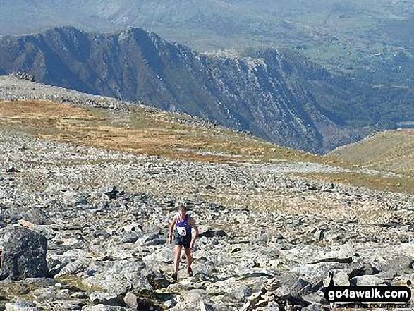 Fell Runner climbing Glyder Fawr